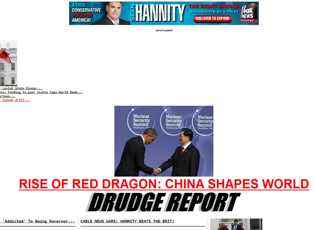 Support The DrudgeReport; Visit Our Advertisers